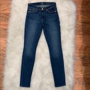 7 For All Mankind Gwenevere Skinny Jeans, Size 27